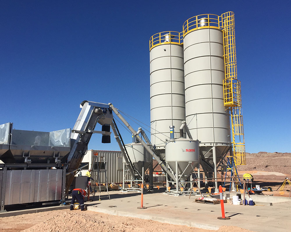 M2P concrete batching plants with capacities up to 60m3/hr